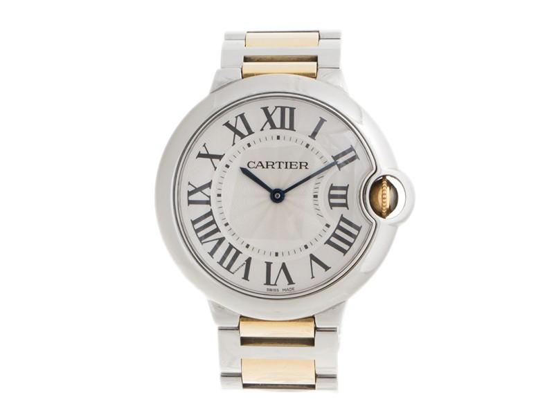 Cartier Ballon Bleu Stainless Steel and 18K Yellow Gold 36mm Watch