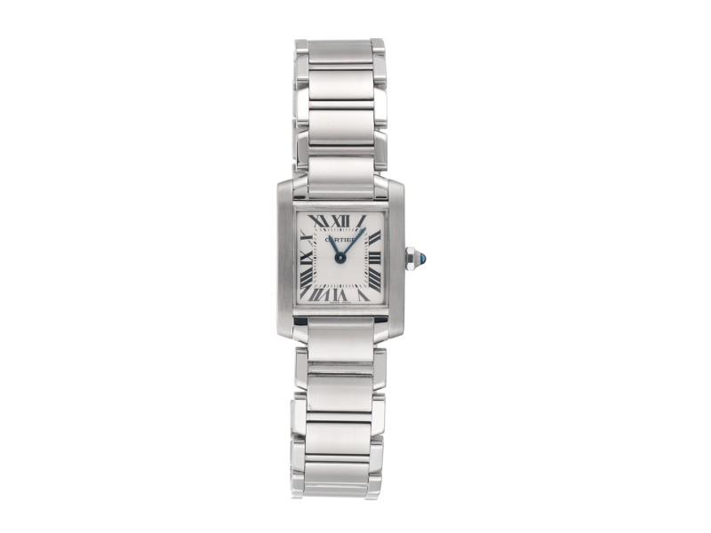 Cartier Tank W51008Q3 Stainless Steel 25mm Womens Watch
