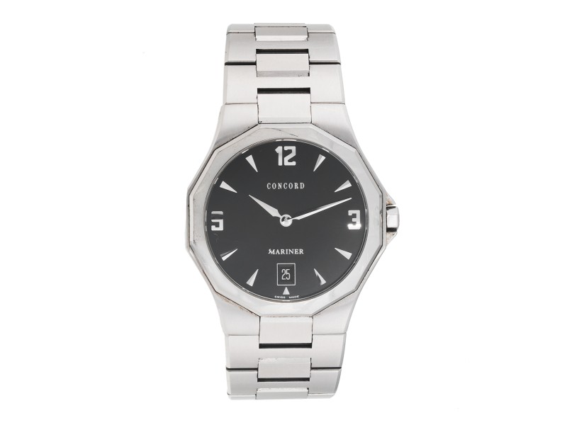 Concord Mariner 14E71891 Stainless Steel Black Dial Swiss 38mm Mens Watch