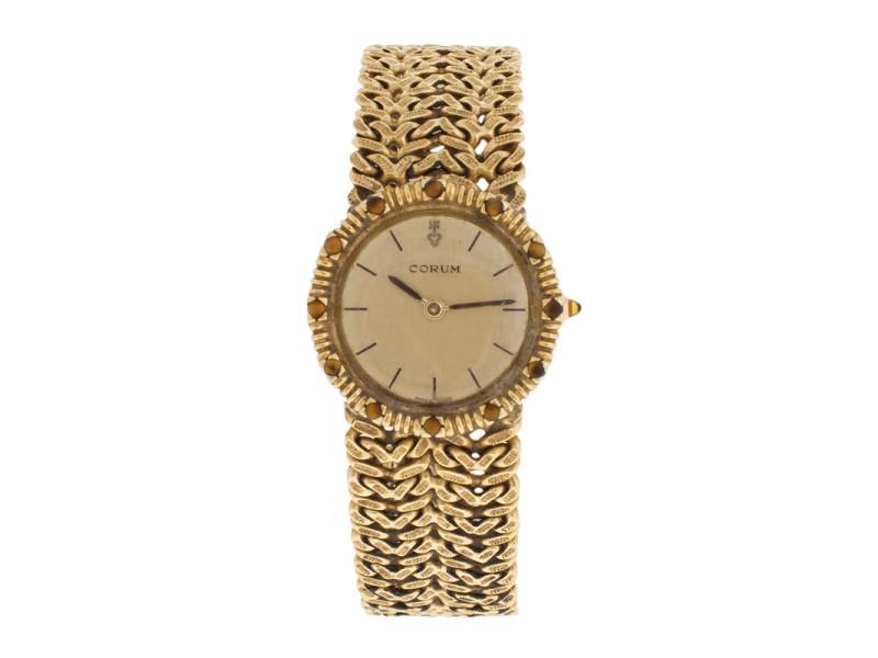Corum 18K Yellow Gold Vintage Quartz 25mm Dress Watch