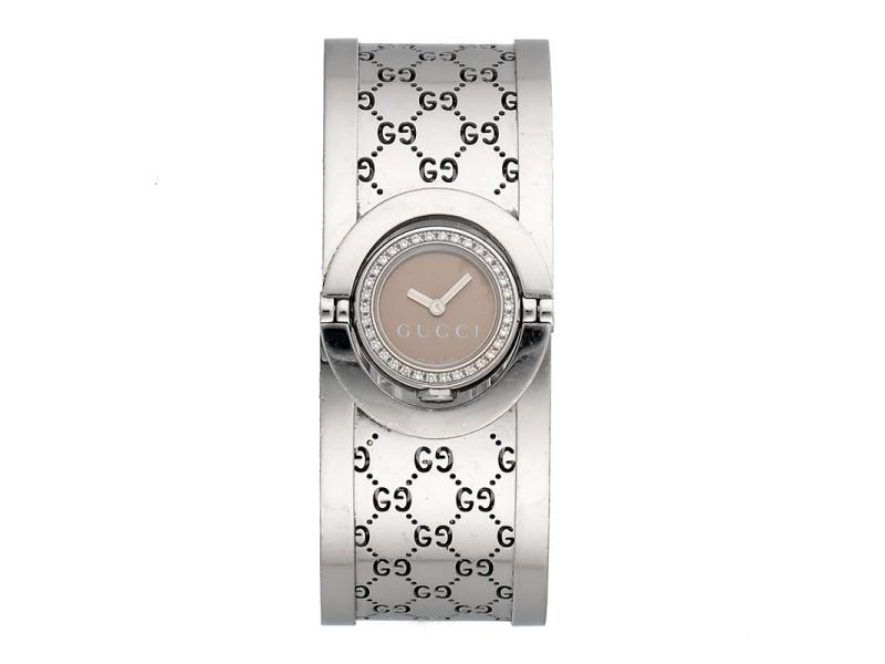 Gucci 112 Quartz Diamond 23mm Womens Watch