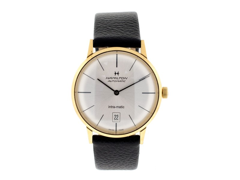 Hamilton Intra-matic Gold Plated Watch Mens Watch