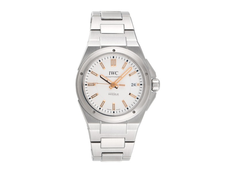 IWC Ingenieur  IW323906 Stainless Steel Automatic Silver Dial Bracelet 40mm Mens Watch
