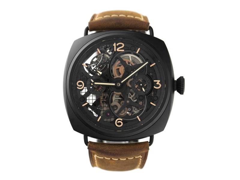 Panerai Special Edition 2010 Lo Scienziato Radiomir Tourbillon GMT 18k White Gold Black Ceramic 48mm Watch