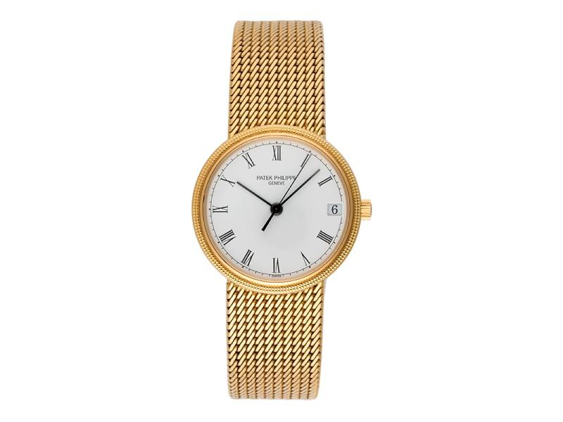Patek Philippe 3802/205 18K Yellow Gold Automatic 33mm Mens Watch