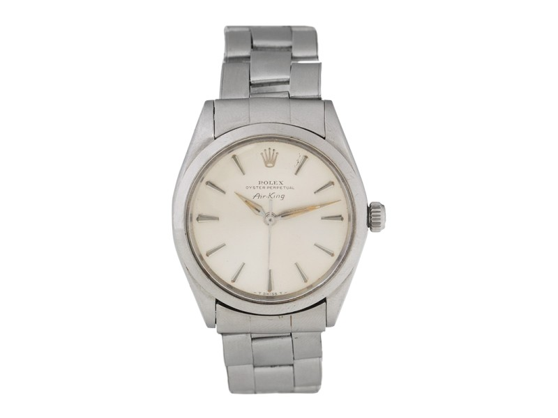 Rolex Air King 5500 Stainless Steel Vintage 34mm Watch