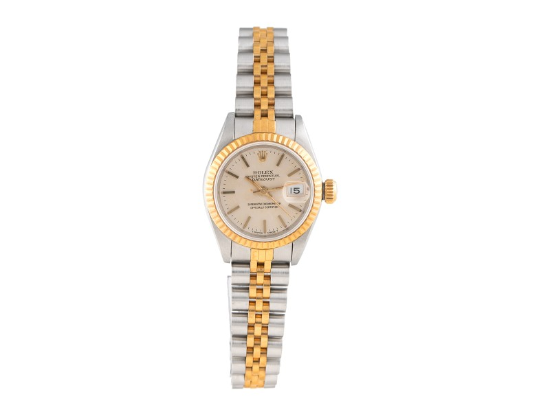 Rolex DateJust 69173 Two Tone  Stainless Steel 18K Yellow Gold 26mm Womens Watch