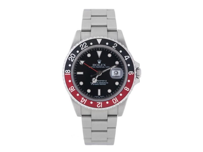 Rolex GMT Master II 16710T Stainless Steel Coke Bezel 40mm Watch