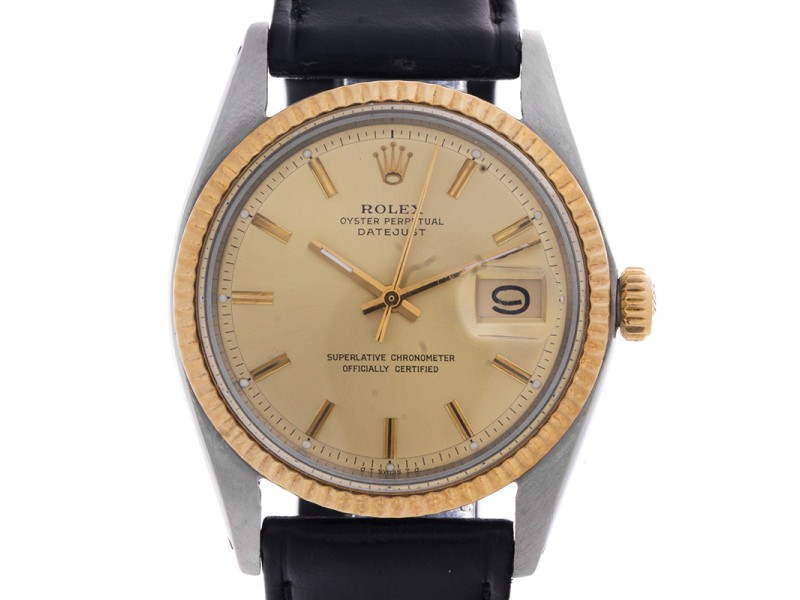Rolex Datejust Oyster Perpetual Stainless Steel and 18K Yellow Gold 50 Year-Old Vintage Watch