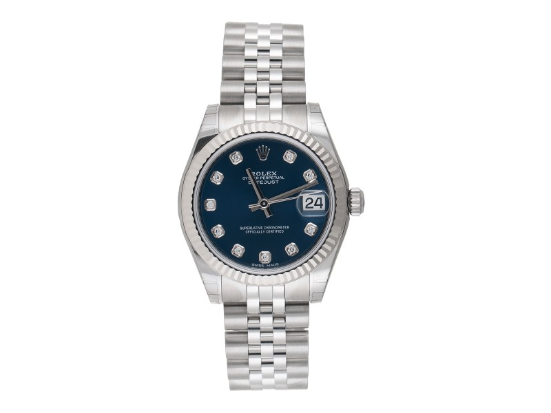 Rolex Datejust 178274 18K White Gold & Stainless Steel Diamonds Automatic 31mm Womens Watch