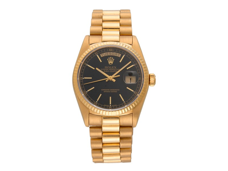 Rolex Day-Date 18038 18K Yellow Gold Automatic 36mm Unisex Watch