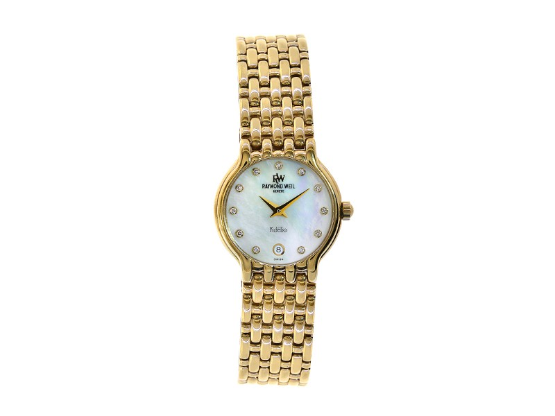 Raymond Weil 4702 18K Gold Fidelio Mother Of Pearl Watch
