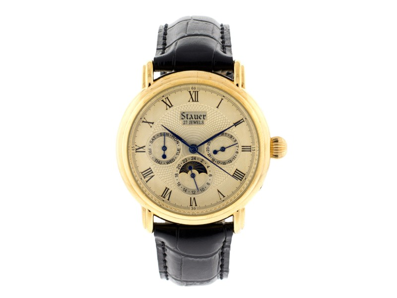 Stauer Gold Plated Triple Date Watch