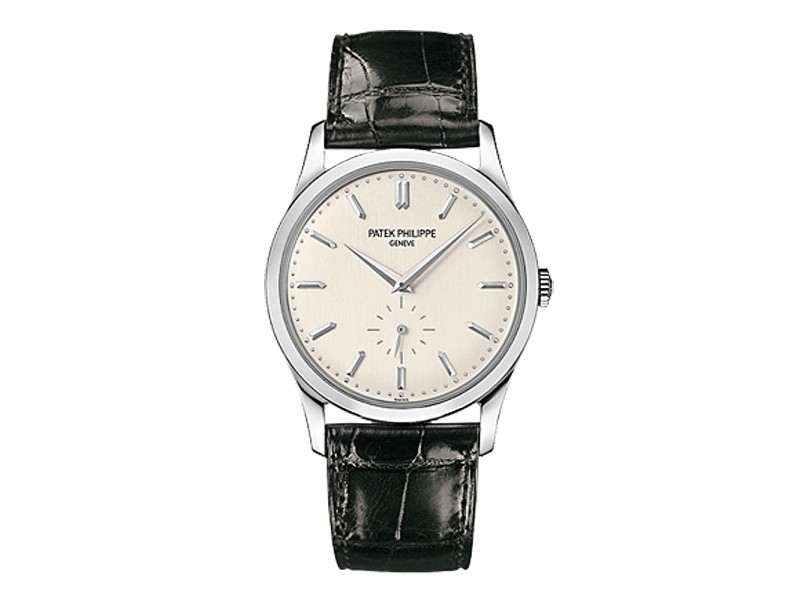 Patek Philippe Calatrava 18K White Gold Watch on Leather Strap 5196G