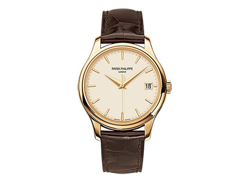 Patek Philippe Calatrava 18K Yellow Gold Watch on Leather Strap 5227J