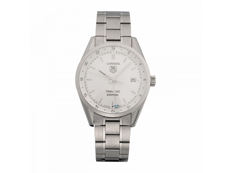 Tag Heuer Carrera Twin Time WV2116.BA0787 39mm Mens Watch
