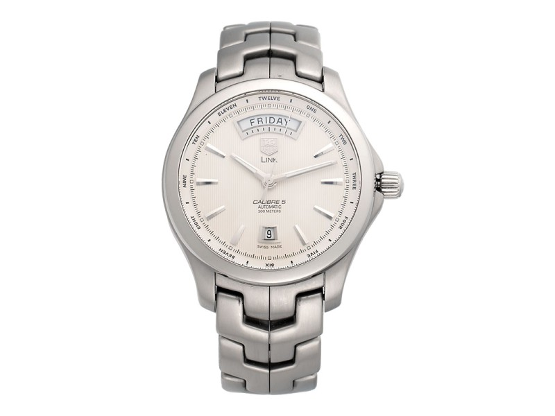 Tag Heuer Link WJF2011 Stainless Steel Automatic 42mm Mens Watch
