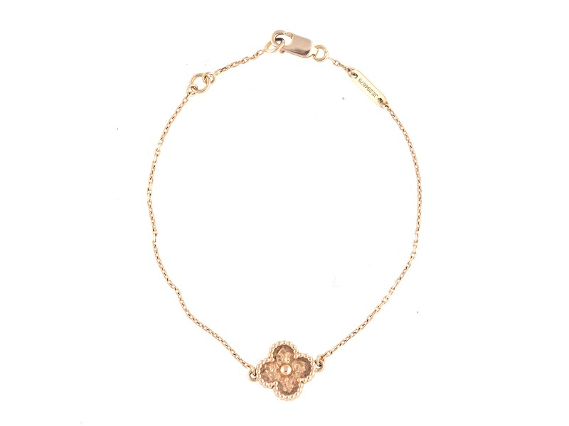 Van Cleef & Arpels 18K Rose Gold Sweet Alhambra Bracelet