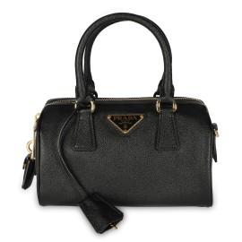 Prada Black Saffiano Lux Leather Top Handle Bag
