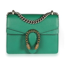 Gucci Green Leather & Crystal Mini Dionysus Bag