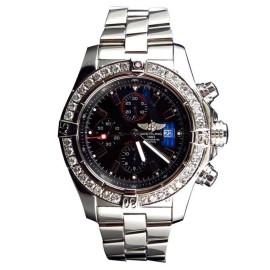 Breitling A13370 Super Avenger XL 48MM Stainless Steel Diamond Watch