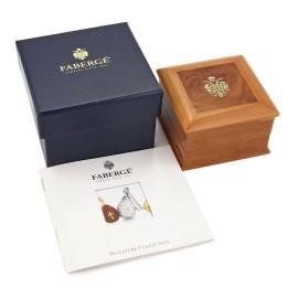 Faberge Platinum & Diamond Pink Quartz Heart & Bow Pendant w/Box Ret: $4750