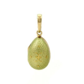 Faberge Victor Mayor Enamel 18k Yellow Gold Egg Charm-Opens Up