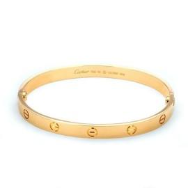 Cartier Love New Style 18k Rose Gold Screw Bangle Size 19 Cert Screwdriver