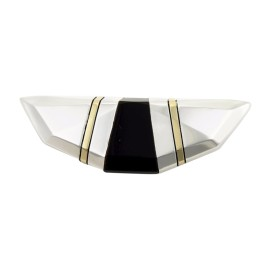 Cartier 925 Sterling Silver and 18K Yellow Gold with Onyx Vintage Brooch