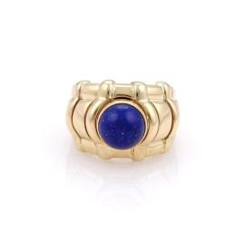 Piaget 18K Yellow Gold Interchangeable Color Gems Dome Ring Size 6.5