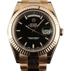 Rolex RL175 218235 Day-Date II  Rose Gold President Black Watch