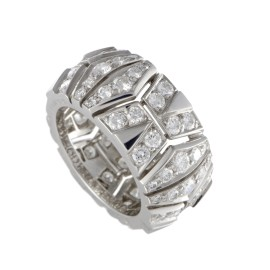 ~1.75ct Cartier 18K White Gold Diamond Band Ring