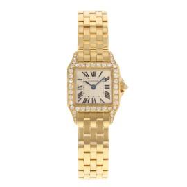Cartier Santos WF9001Y7 20mm Womens Watch