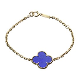 Van Cleef & Arpels Vintage Magic Alhambra Lapis Lazuli 18K Yellow Gold Bracelet