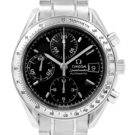 Omega Speedmaster Chronograph Black Dial Steel Watch 3513.50.00 Card