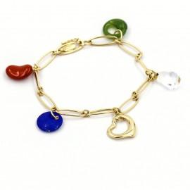 Tiffany & Co. Elsa Peretti 18K Yellow Gold Five-Stone Charm Bracelet