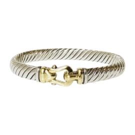 David Yurman Cable 18K Yellow Gold Sterling Silver Bracelet