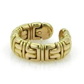 Bvlgari Parentesi 18k Yellow Gold 7.5mm Wide Cuff Band Ring