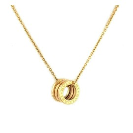 Bvlgari B.zero1 Mini Ring 18k Yellow Gold Pendant Necklace