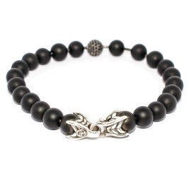 David Yurman Black Onyx & Diamond Spiritual Beads Bracelet