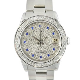 Rolex DateJust 68274 1.60Ct Diamond Dial Bezel Automatic Stainless Steel Midsize