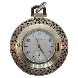 Longines 18K Yellow Gold & Enamel Watch Pendant