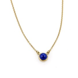Tiffany & Co. Peretti By The Yard 18K Yellow Gold with Lapis Pendant Necklace