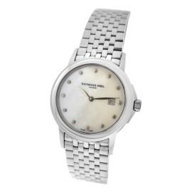 Ladies' Raymond Weil Tradition 5966-ST-97001 Steel MOP Quartz Date 28MM Watch