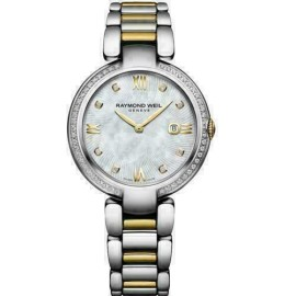 Ladies' Raymond Weil Shine 1600-SPS-00995 Steel Diamond MOP 32MM Quartz Watch