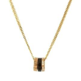 Cartier Love Diamond 18k Pink Gold Ceramic 3 Mini Ring Pendant Necklace w/Cert.