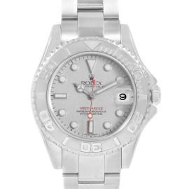 Rolex Yachtmaster 35 Midsize Steel Platinum Unisex Watch 168622
