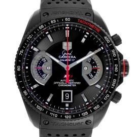 Tag Heuer Grand Carrera Black PVD Mens Watch CAV518B Box Card