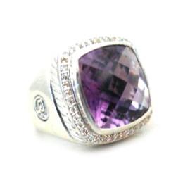 David Yurman Albion Amethyst Diamond Ring