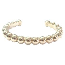 Van Cleef & Arpels 18K Rose Gold Perlee Cuff Bracelet